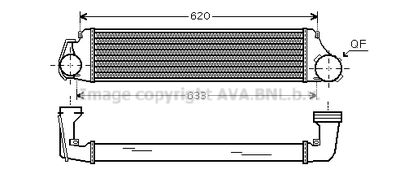 AVA QUALITY COOLING Intercooler, inlaatluchtkoeler (BW4282)