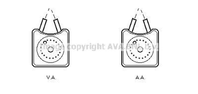 AVA QUALITY COOLING Oliekoeler, motorolie (VN3106)