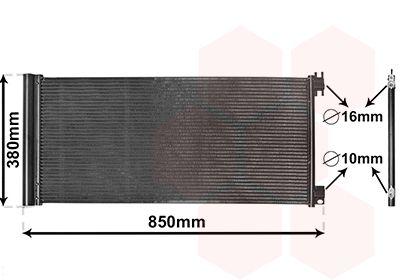 VAN WEZEL Condensor, airconditioning (43015702)