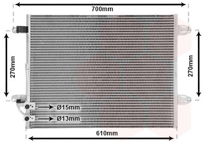 VAN WEZEL Condensor, airconditioning (58005323)
