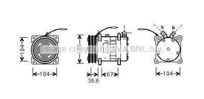 AVA QUALITY COOLING Compressor, airconditioning (UVAK070)