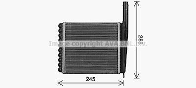 AVA QUALITY COOLING Kachelradiateur, interieurverwarming (LA6030)