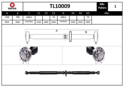 EAI Aandrijfas, asaandrijving (TL10009)