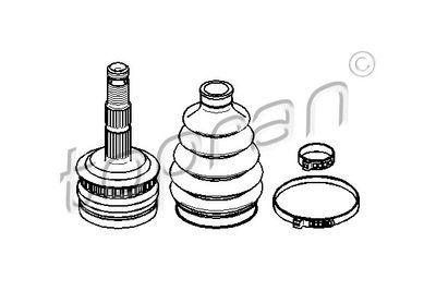 TOPRAN Homokineet reparatie set, aandrijfas (206 324)