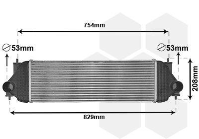 VAN WEZEL Intercooler, inlaatluchtkoeler (52004134)