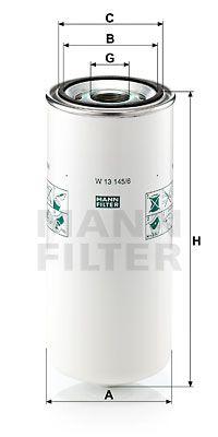 MANN-FILTER Oliefilter (W 13 145/6)