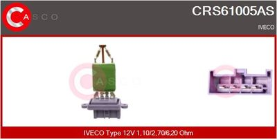 CASCO Weerstand, interieurventilator (CRS61005AS)