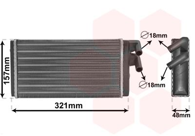 VAN WEZEL Kachelradiateur, interieurverwarming (03006052)