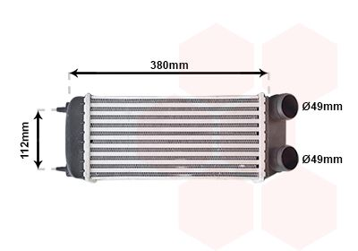 VAN WEZEL Intercooler, inlaatluchtkoeler (40004294)