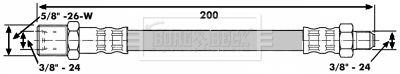 BORG & BECK Koppelingsslang (BBH6541)