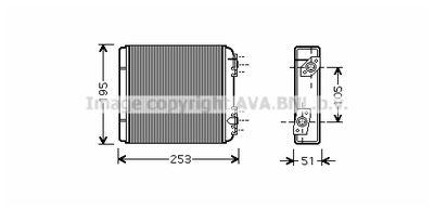 AVA QUALITY COOLING Kachelradiateur, interieurverwarming (LA6020)