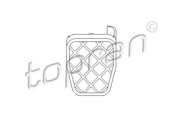 Pedalo antdėklas, stabdžių pedalas